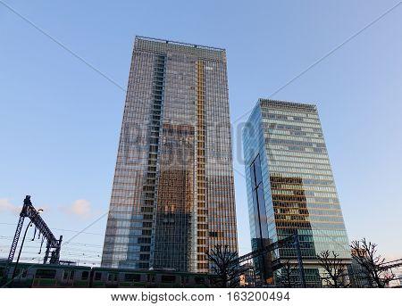 Office Buildings In Tokyo, Japan