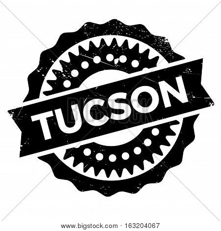 Tucson stamp. Grunge design with dust scratches. Effects can be easily removed for a clean, crisp look. Color is easily changed. rubber grunge