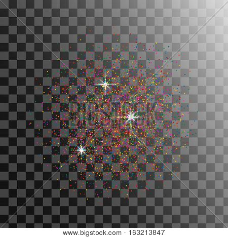 Grain Distress Crumbs, particles Texture. Dust Particles Vector . Grunge Background with Sand Effect.
