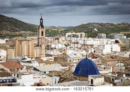 a view over Sagunto city, province of Valencia, Spain