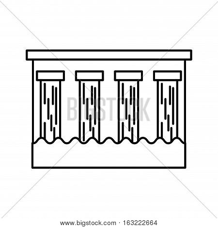 hydroelectric dam isolated icon vector illustration design