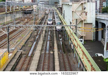 Bullet Trains, Shinkansen, On Ueno Railway Station