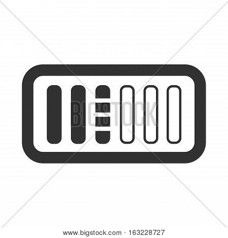 black battery Charging icon on a white background