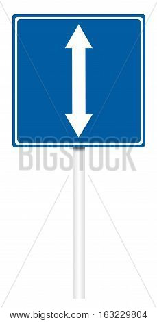 Informative Traffic Sign - Reverse Movement