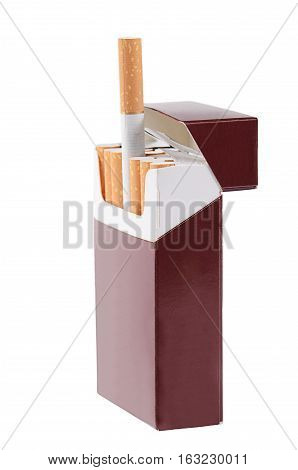 Box Of Cigarettes Isolated On White