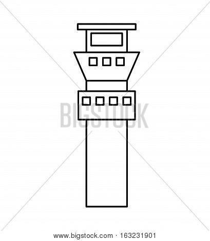 control tower building icon vector illustration design