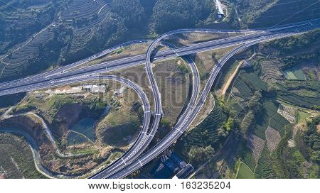 Viaduct Of Aerial Photography