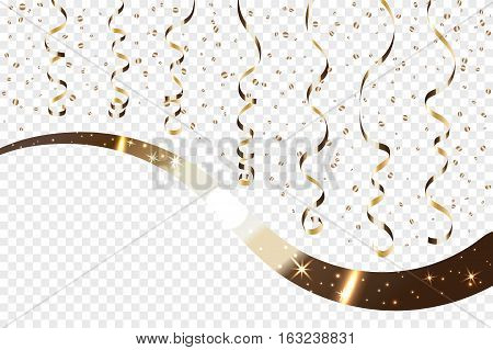 Ribbon Confetti Isolated