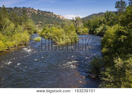South Fork of the American River near Marshall Gold Discovery State Historic Park. A popular place to pan for gold.