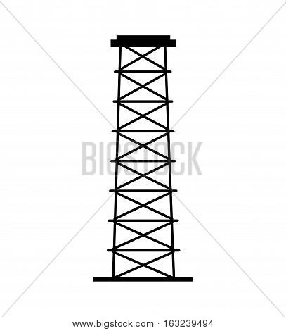 Refining plant tower isolated icon vector illustration design