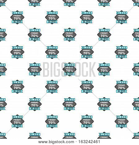 Label black friday seventy percent big offer pattern. Cartoon illustration of label black friday seventy percent big offer vector pattern for web