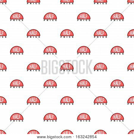 Label half price pattern. Cartoon illustration of label half price vector pattern for web