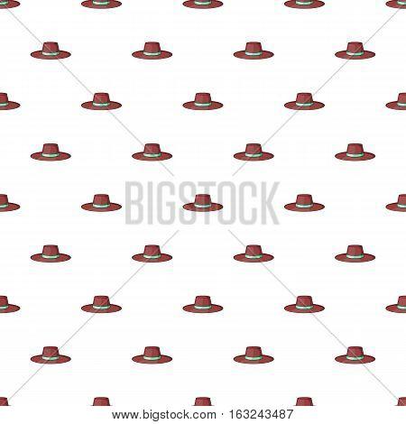 Gentleman hat pattern. Cartoon illustration of gentleman hat vector pattern for web