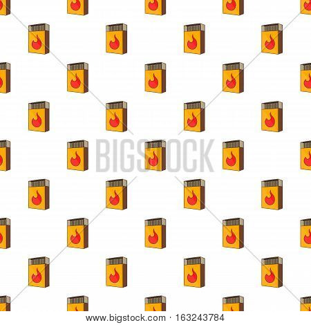 Box matches pattern. Cartoon illustration of box matches vector pattern for web