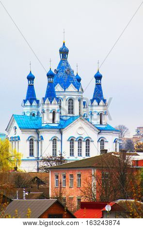 St. George Cathedral (view from fortress) in Kamianets-Podilskyi, Ukraine