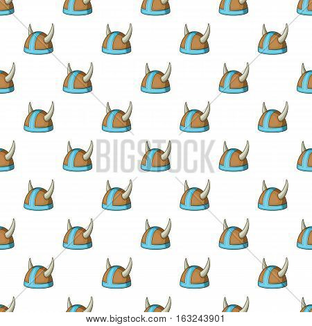 Metal combat helmet pattern. Cartoon illustration of metal combat helmet vector pattern for web