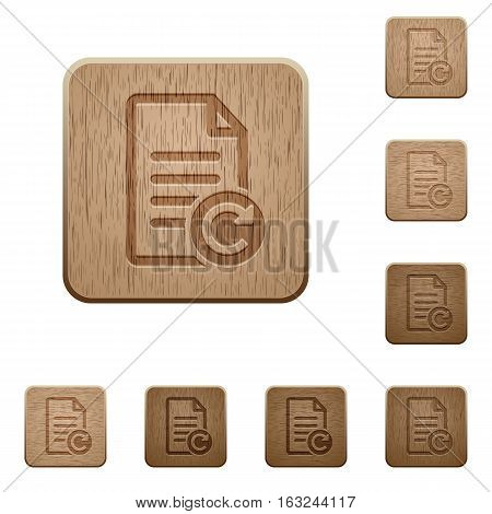 Redo document changes on rounded square carved wooden button styles