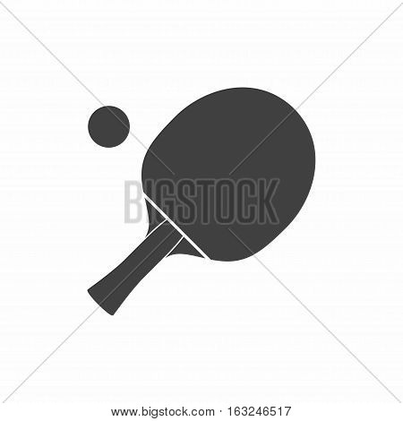 Racket icon for playing table tennis or ping-pong vector isolated on white background.