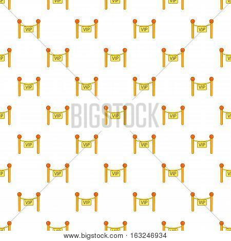 Decorative poles with tape for VIP pattern. Cartoon illustration of decorative poles with tape for VIP vector pattern for web