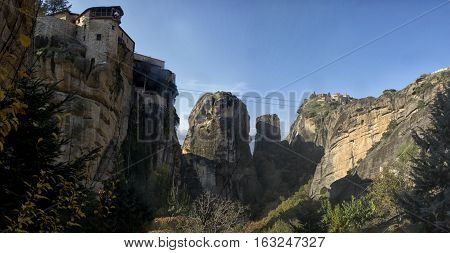 Orthodox Monasteries Meteora, Kalambaka, Greece.