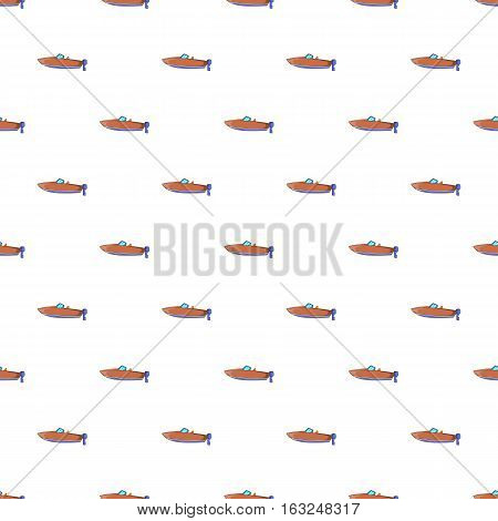 Motor boat pattern. Cartoon illustration of motor boat vector pattern for web