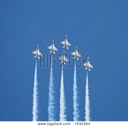 The Thunder-Birds Performed At Air Show