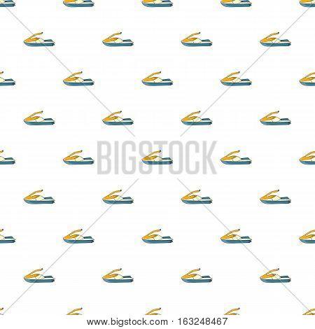 Jet ski pattern. Cartoon illustration of jet ski vector pattern for web