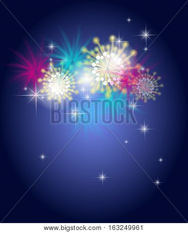 Illustration of new year's background with firework