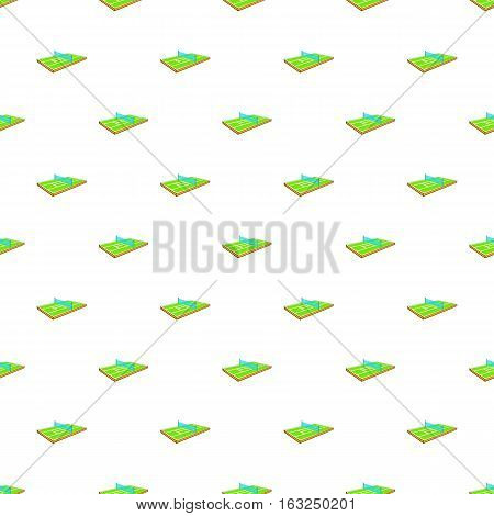 Tennis court pattern. Cartoon illustration of tennis court vector pattern for web