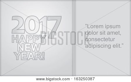 Happy New Year - illustration for business template
