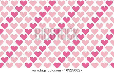 valentine seamless polka dot pattern with hearts.  simple cute heart shape repeatable motif for fabric, wrapping paper, background