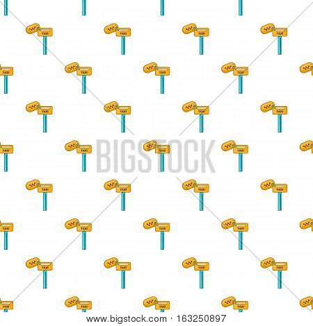 Keys to taxi pattern. Cartoon illustration of keys to taxi vector pattern for web