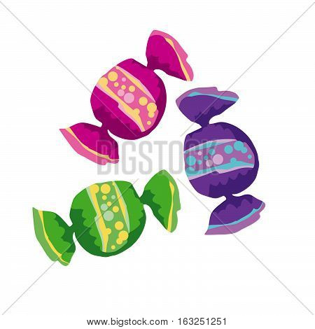 assorted simple color round candy vector illustration