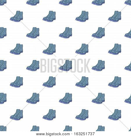 Mens boots pattern. Cartoon illustration of mens boots vector pattern for web