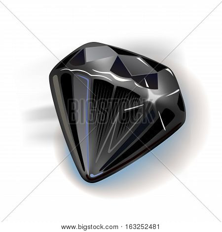 Black diamond front view vector illustration isolated on white background