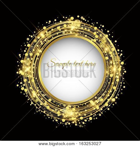 Golden circle background vector Abstract Background illustration