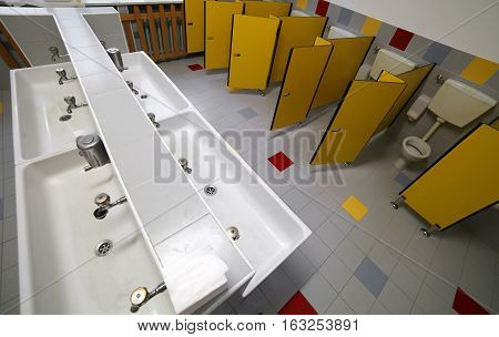 Bathroom  For Kids In The Preschool Without Children