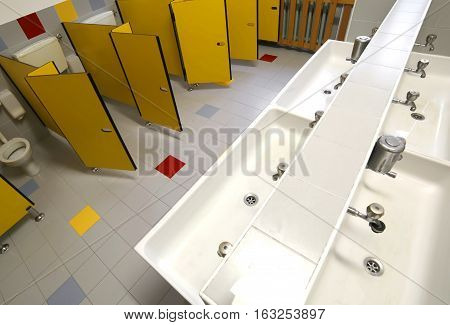 Inside A Bathroom  For Kids In The Preschool Without Children
