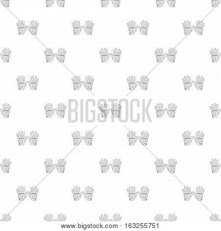 Golf gloves pattern. Cartoon illustration of golf gloves vector pattern for web