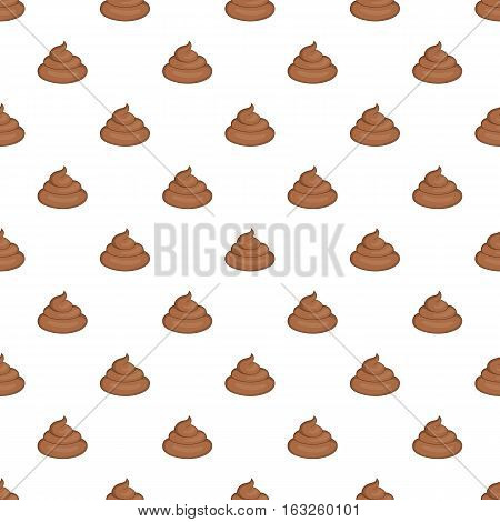 Turd pattern. Cartoon illustration of turd vector pattern for web