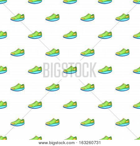 Sneakers pattern. Cartoon illustration of sneakers vector pattern for web