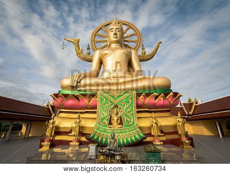 Koh Samui, Thailand - Dec 24 : Big Buddha At Wat Phra Yai In Koh Samui, Thailand.
