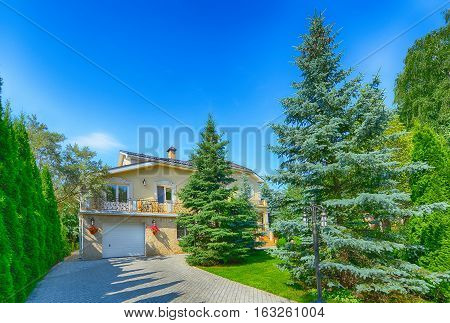 Russia,Moscow region,beautiful country house in the exclusive village