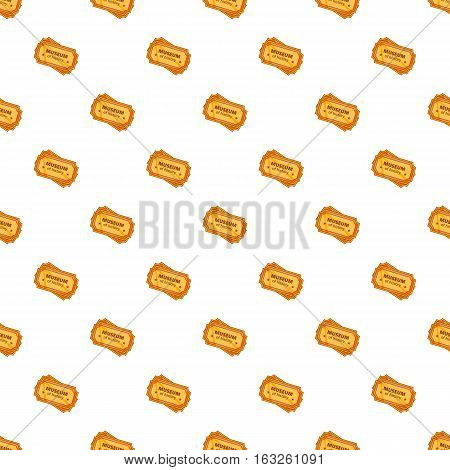 Sign museum of history pattern. Cartoon illustration of sign museum of history vector pattern for web