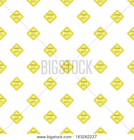 Label perfect price pattern. Cartoon illustration of label perfect price vector pattern for web