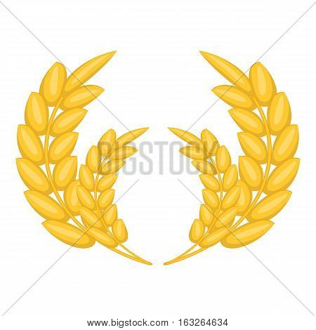 Wheat ears frame icon. Cartoon illustration of wheat ears frame vector icon for web design