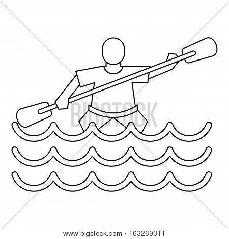 Kayak slalom icon. Outline illustration of kayak slalom vector icon for web