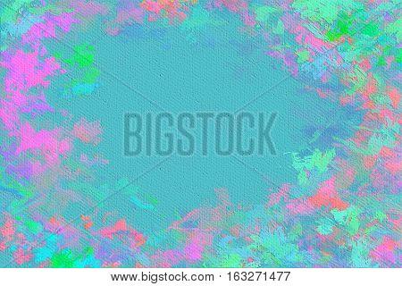 Vivid  painting closeup texture background with  pink, blue and different  vivid  vibrant colorful creative patterns