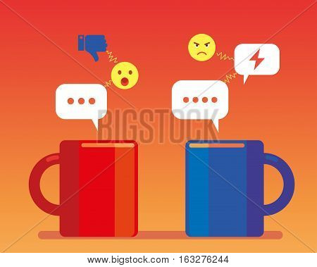 Community social network negative cup like chat