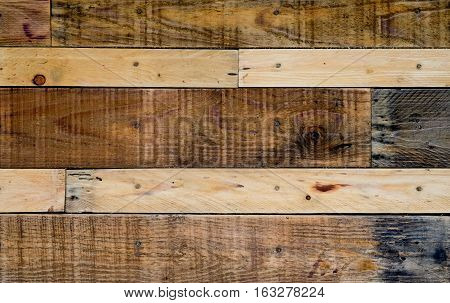 Wooden pallets background,Wall made of wooden pallets.